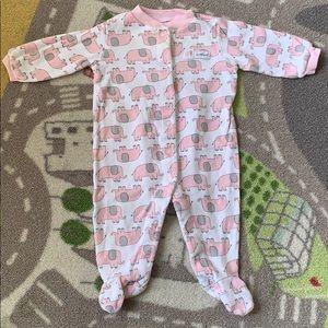 Carters Baby Girl Pink Elephant Footie Sleeper